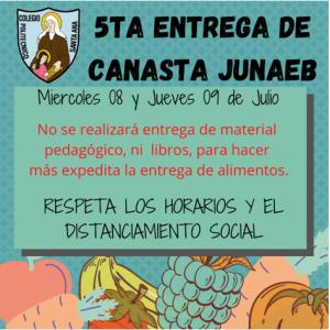 5ta Entrega Canasta JUNAEB