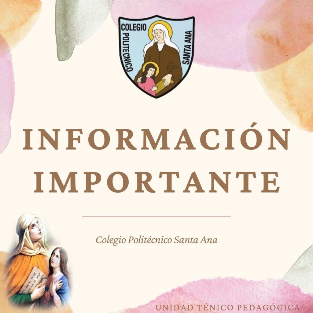 INFORMACIÓN IMPORTANTE: Guía N°2: