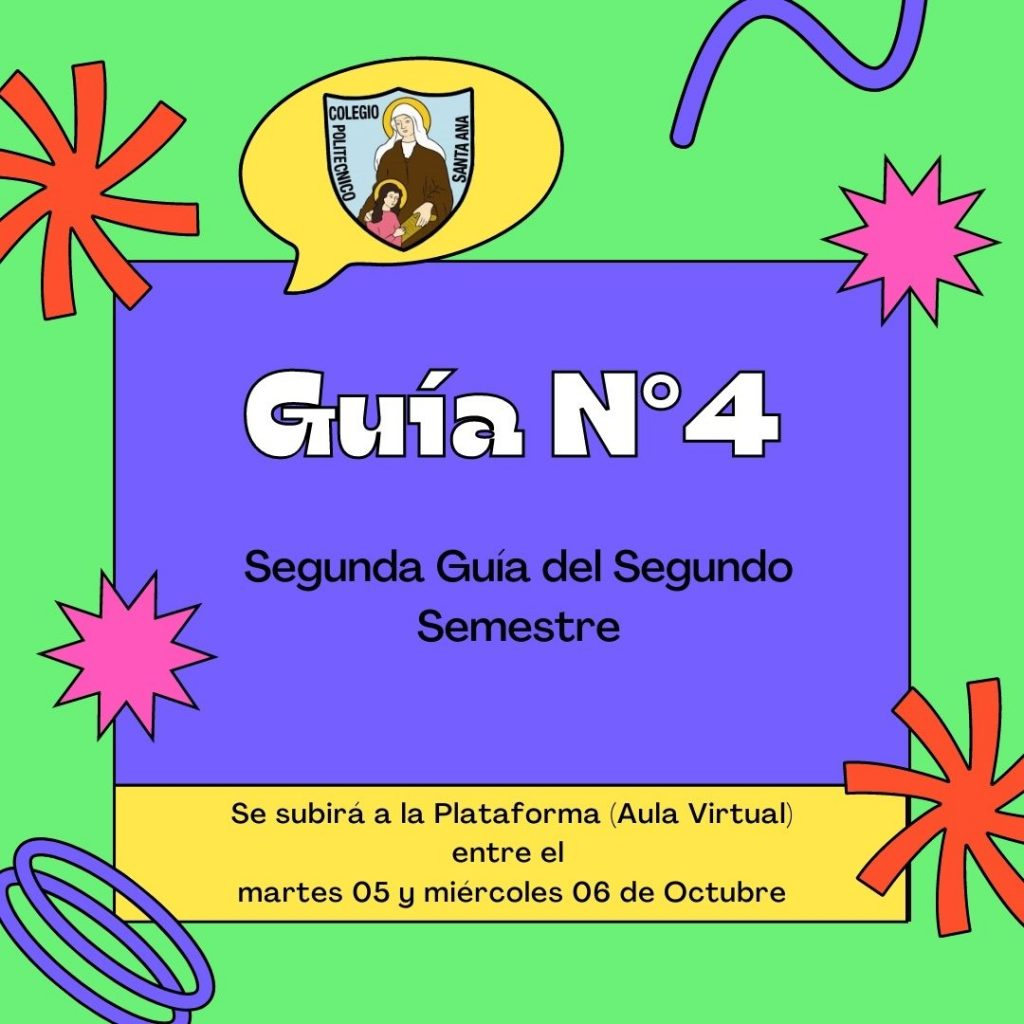 Guías N°4 (Segunda guía del 2do semestre)