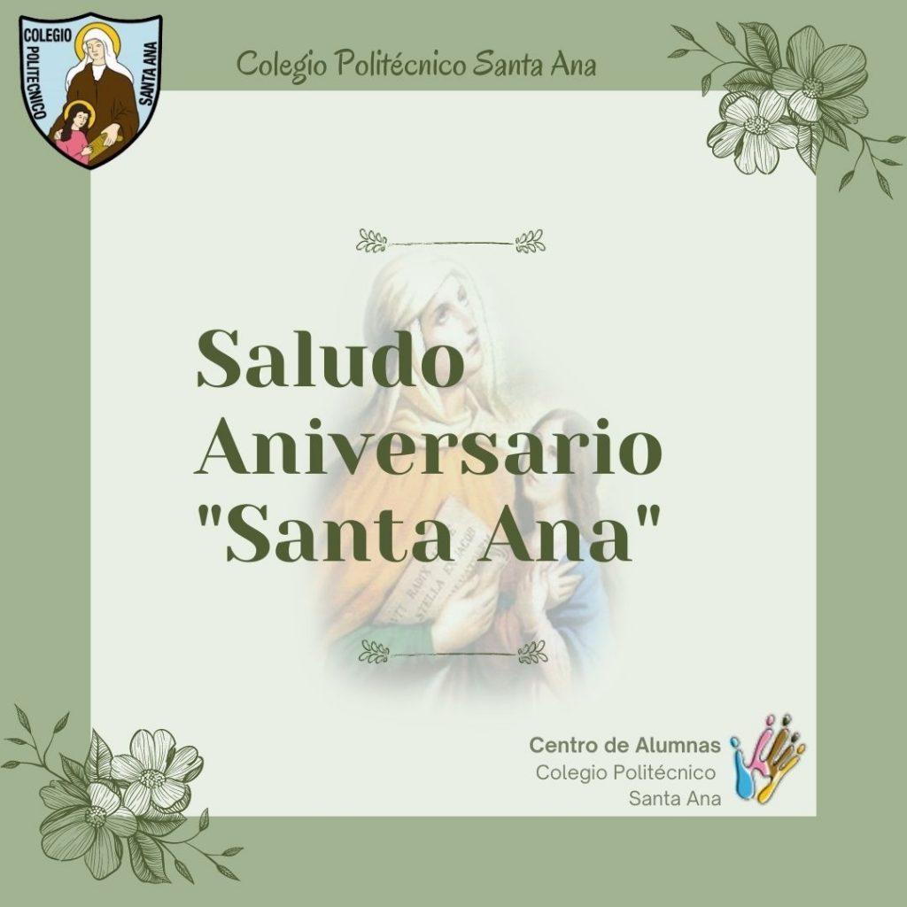 """Saludo de Aniversario """"Santa Ana"""""""