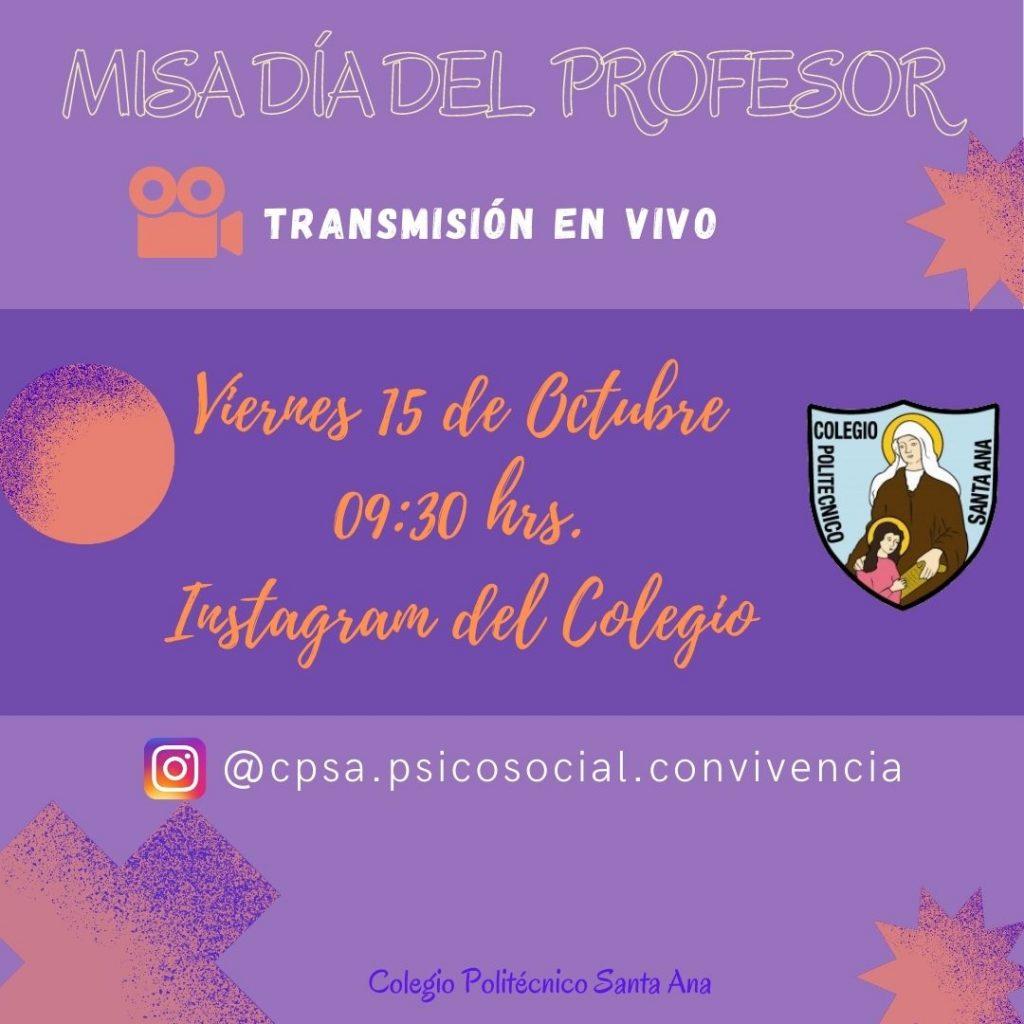 Transmisión en vivo Misa día del Profesor